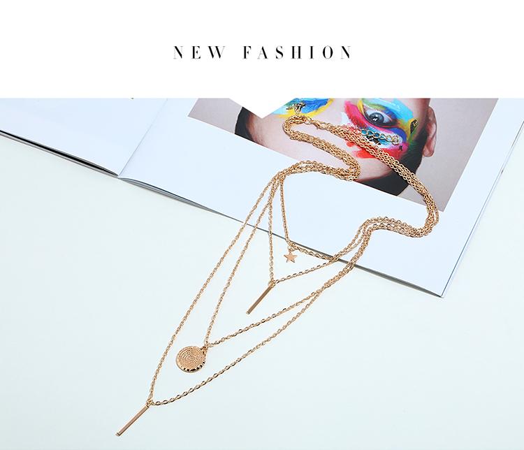 韩版气质时尚日月星辰项链