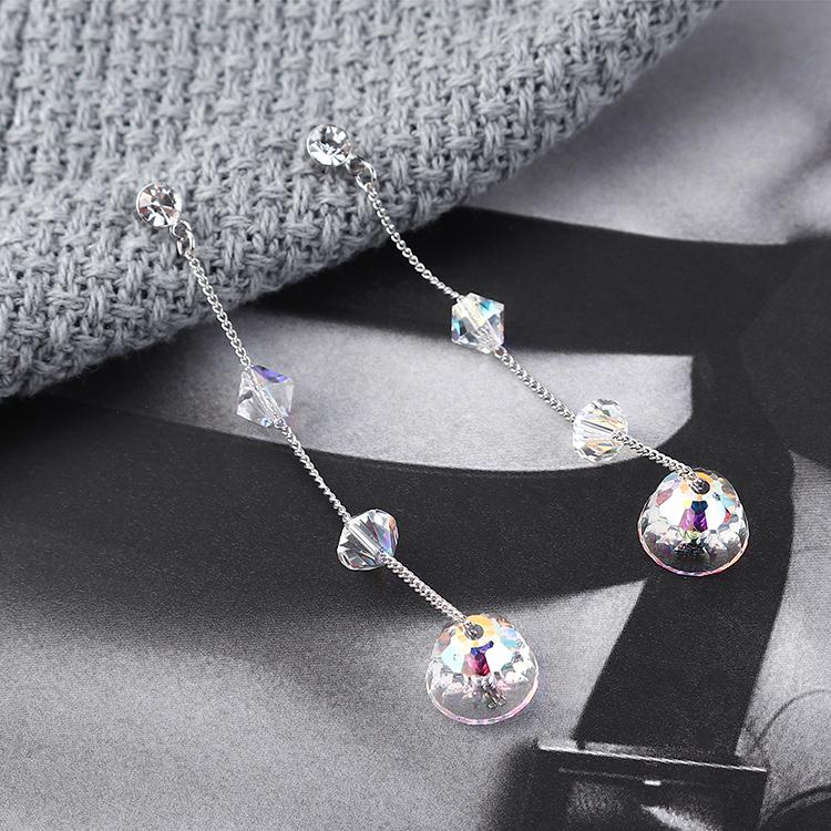 奥地利水晶耳环--泪滴珠