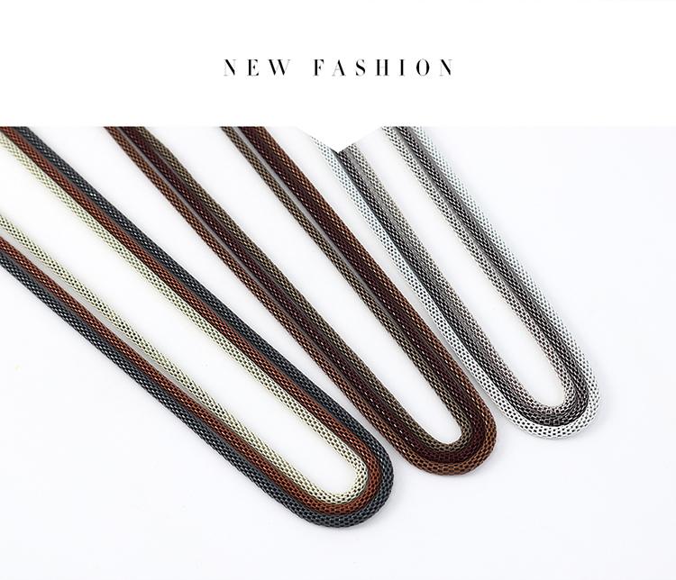 欧美时尚简约气质个性新潮毛衣链(三色