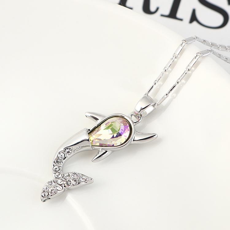 奥地利水晶项链--小鲸鱼(金色魅影)