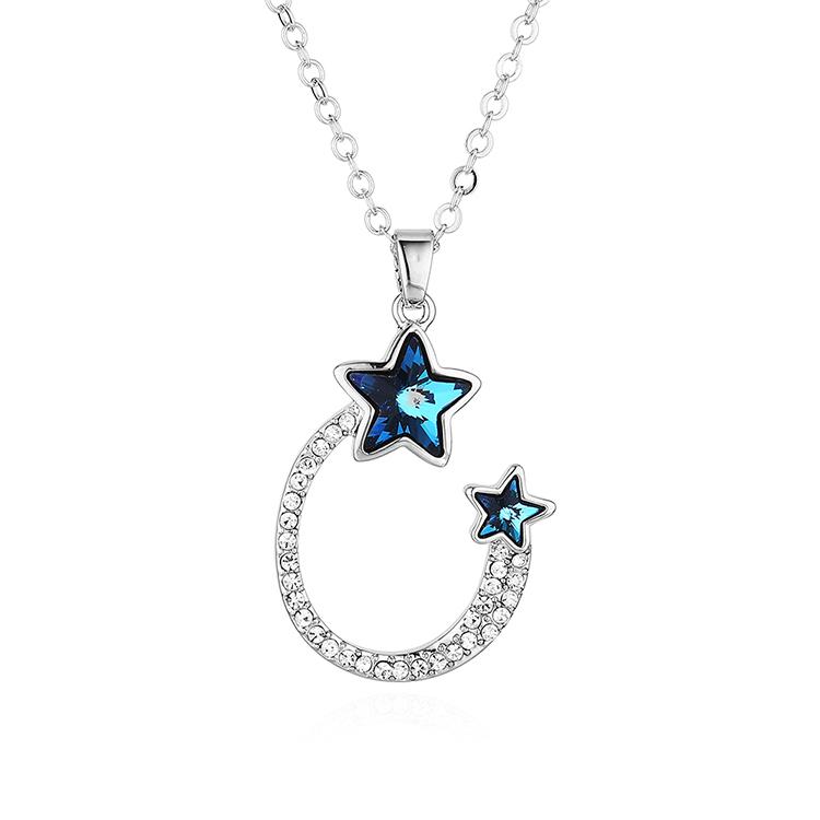 奥地利水晶项链--海派甜星(蓝光)