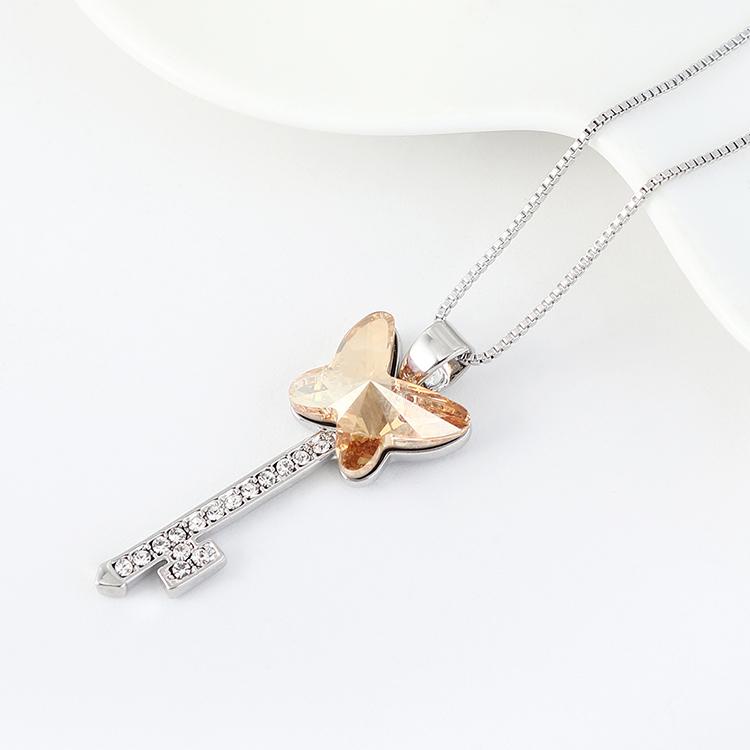 奥地利水晶项链--蝶翼之钥(金色魅影)