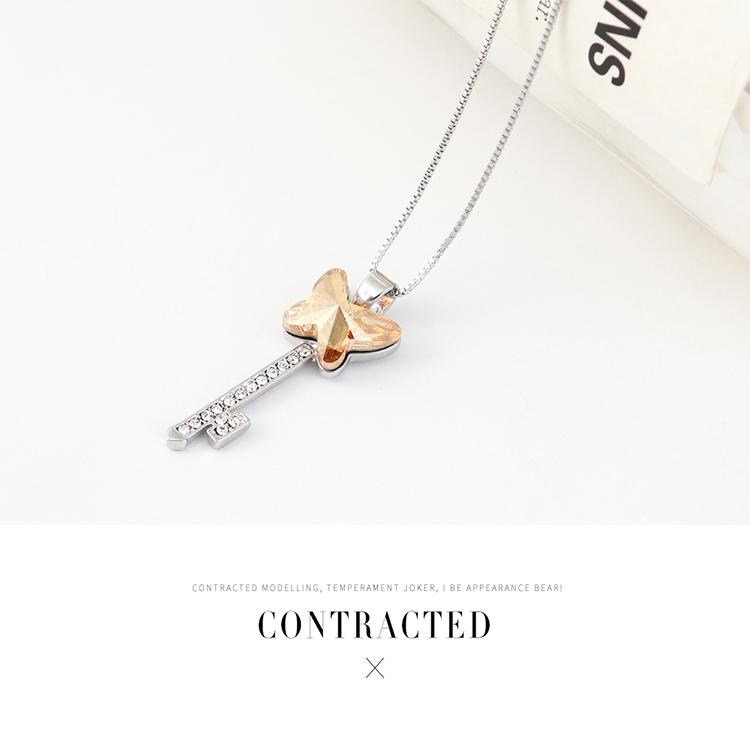 奥地利水晶项链--蝶翼之钥(紫色)