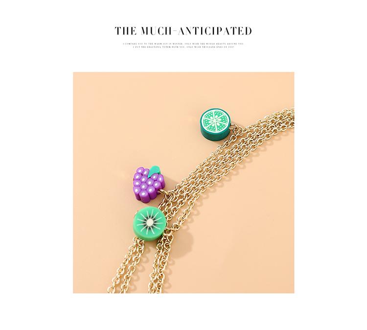 韩版简约百搭小清新时尚气质果彩缤纷多层项链