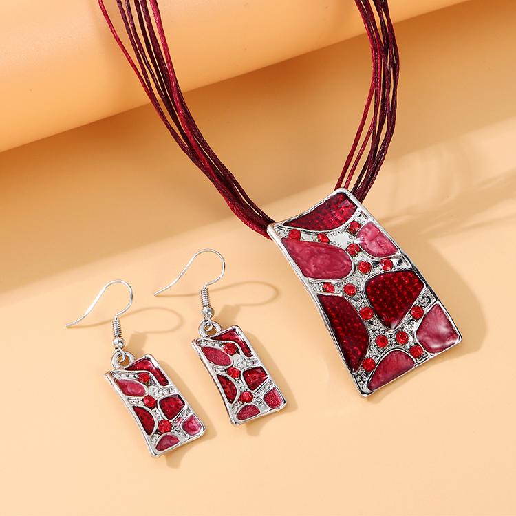 韩版民族风时尚复古个性创意套装(红色)