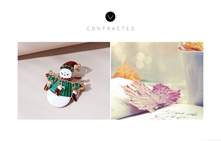 圣诞系列小清新甜美百搭可爱圣诞雪人胸针