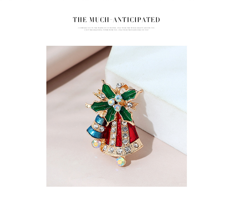 圣诞系列创意百搭小清新ins潮圣诞铃铛胸针