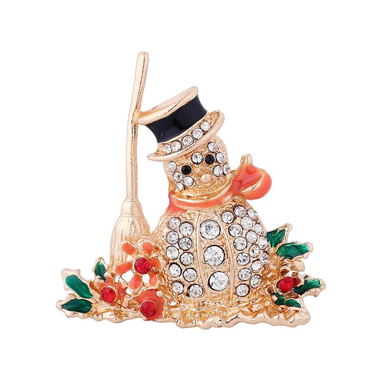 圣诞系列时尚气质百搭ins潮我圣诞雪娃娃胸针