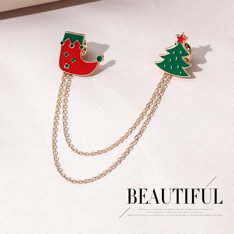 圣诞系列流行潮流百搭ins潮圣诞靴子胸针