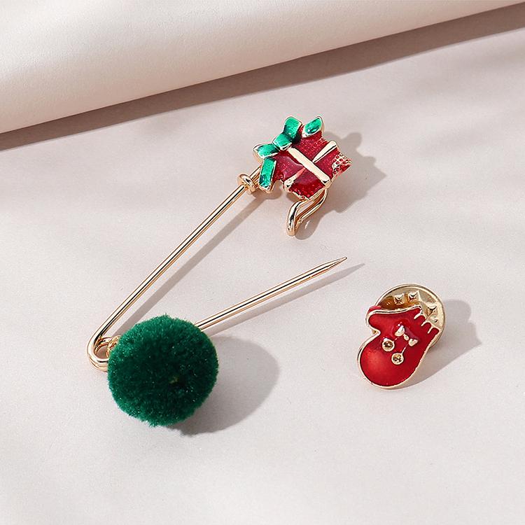 圣诞系列风靡流行百搭创意圣诞礼物胸针套装