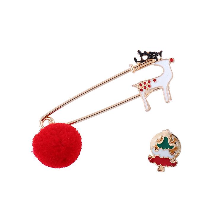 圣诞系列百搭流行风靡圣诞驯鹿胸针套装