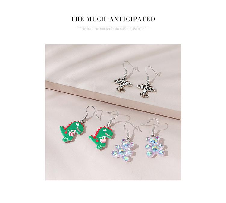 欧美甜美小清新百搭可爱创意耳环套装