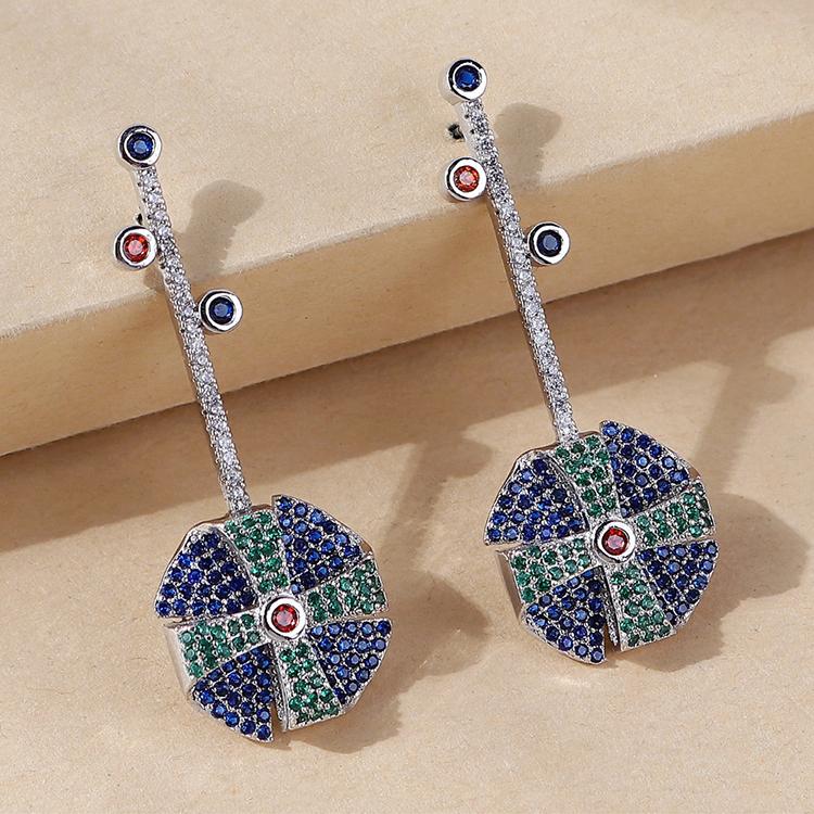 韩版创意百搭爆款小清新水晶耳环