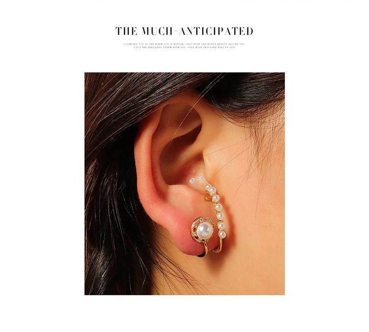 欧美复古时尚大牌大气珍珠耳环