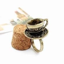 韩版复古戒指-咖啡杯