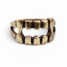 欧美复古个性圈戒指(古铜)