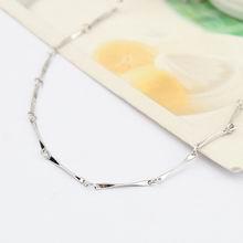 特价纯银16寸镀白全批角项链配链