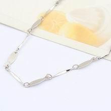特价纯银16寸镀白批角间鱼形项链配链