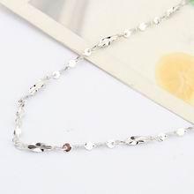 特价纯银18寸镀白扭麦粒满天星项链配链