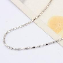 特价16寸纯银椭圆珠项链配链
