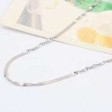 特价纯银18寸双水波间片项链配链
