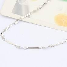 特价纯银18寸镀白十字间蛋片项链配链
