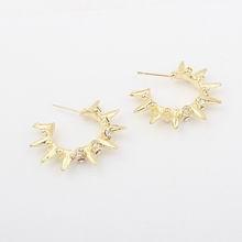 欧美时尚个性锥形小圈耳环(金)