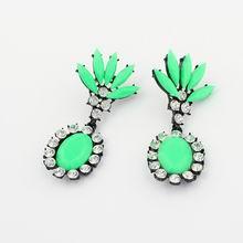 欧美荧光色时尚冰凌花耳环(绿)