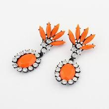 欧美荧光色时尚冰凌花耳环(橘)