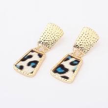 欧美时尚潮流动物纹耳环--D款
