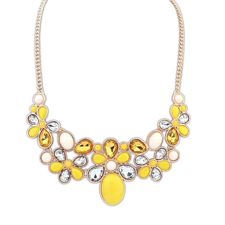 欧美瑞丽糖果宝石时尚项链(黄色)