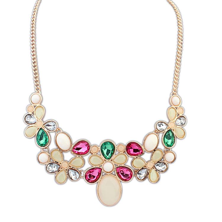 欧美瑞丽糖果宝石时尚项链(彩色)