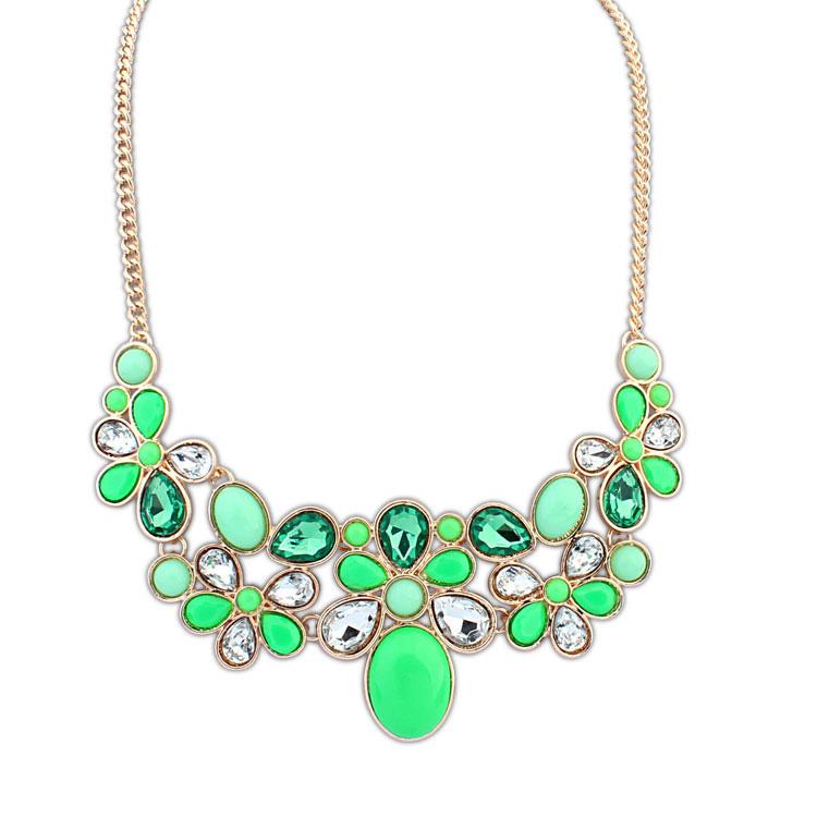 欧美瑞丽糖果宝石时尚项链(绿色)