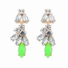 欧美时尚百搭新款精致耳环(绿色)
