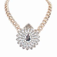 欧美街拍潮流奢华宝石项链(白色)