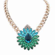 欧美街拍潮流奢华宝石项链(彩色)