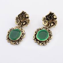 欧美民族复古夸张耳环(绿色)