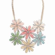 欧美时尚甜美气质镶钻项链(彩色)