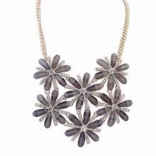 欧美时尚甜美气质镶钻项链(黑色)