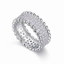 S925纯银戒指--银花火树