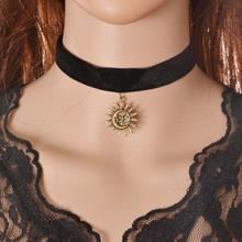 欧美复古哥特蕾丝颈链--48[3358]