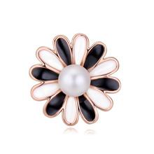 奥地利水晶胸针--花粉世界(玫瑰金+黑白)
