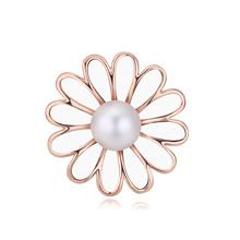 奥地利水晶胸针--花粉世界(玫瑰金+白色)