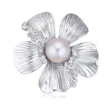 奥地利水晶胸针--嫣然笑(白色)