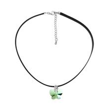 奥地利水晶项链--彩蝶(橄榄)