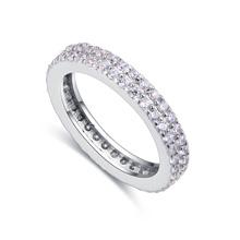 S925纯银戒指--不即不离(白金)