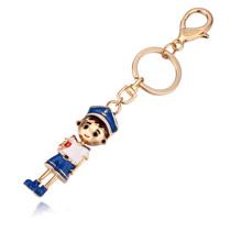 钥匙扣--运动少年(香槟金+蓝色)