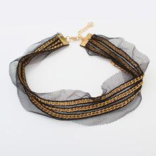 欧美复古哥特蕾丝颈链--112