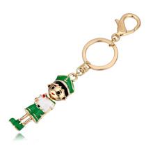 钥匙扣--运动少年(香槟金+绿色)