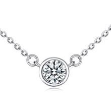 S925纯银项链--绮霞(白色)